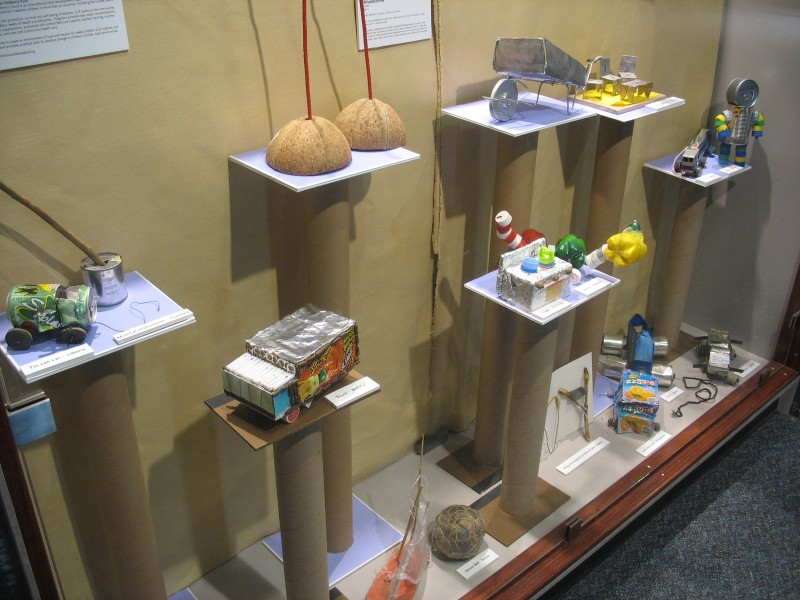 "Toys from ""The Power to Play - from Trash to Treasure"" have been on display in Boston at the Children's Museum."