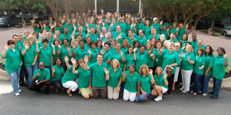 ChildFund International staff members gathered for a flag-raising ceremony July 1.