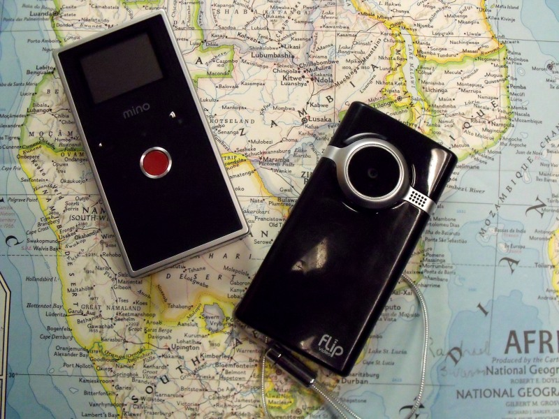 As part of our Twitter campaign, Flip video cameras have arrived in The Gambia and Zambia.