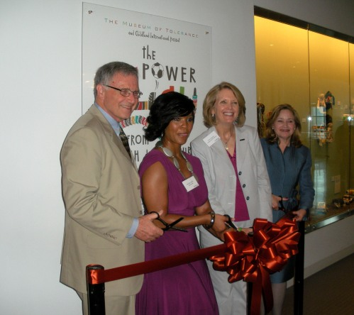 "A ribbon-cutting ceremony kicked off the opening of ""The Power to Play"" at the Museum of Tolerance."