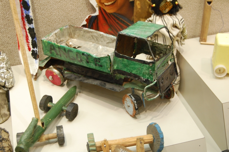 "These toys from ""The Power to Play - from Trash to Treasure"" were on display in August at the National Press Club in Washington, D.C. They are now headed to Los Angeles."