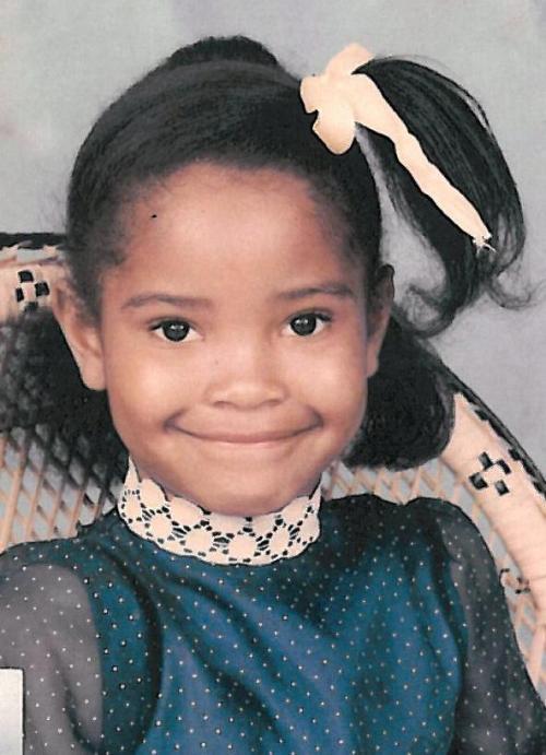 Shauntay Hinton as a child