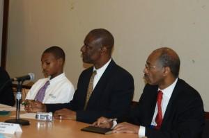 Denzel, Francis Joseph, and Crispin Gregoire, Dominica's UN representative