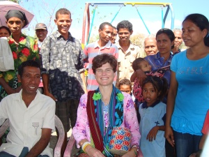 Vice President of Global Programs Anne Scott visits Bobonaro.