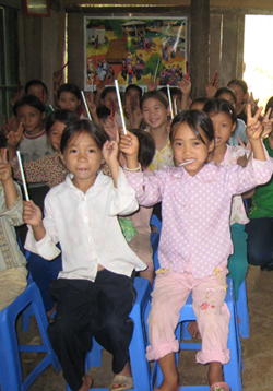 Clubs in Vietnam allow youth to education children about the dangers they may face.