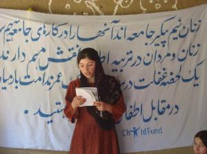 Afghanistan ChildFund Literacy training for girls