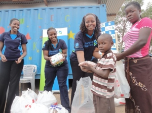 Food distribution to ChildFund program areas