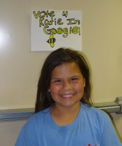 Photo of Katie at her school
