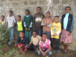 Group photo of Ethiopian children