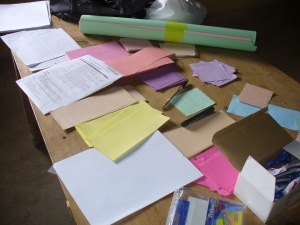 Photo of focus group materials