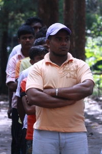 Sanath works with Youth Club participants