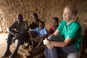 A family welcomes ChildFund CEO
