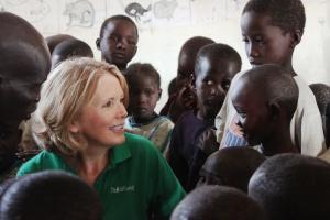 ChildFund CEO with Kenya children
