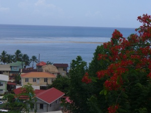 A view of Dominica's coastline