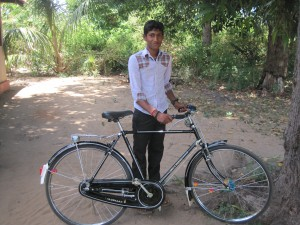Teen with bicycle