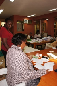 ChildFund employees process mail