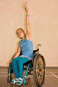 girl dancing in wheelchair
