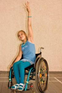 girl dancing in wheelchair