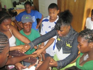 Domincia youth gather for drama coaching