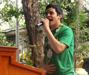 Singer performs
