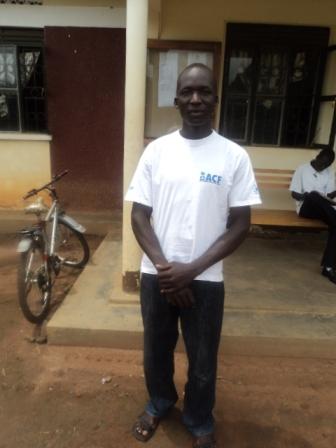 Young veterinarian in Uganda