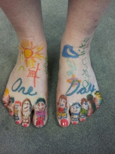 Decorated feet
