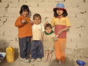 Four children standing