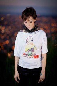 model wears T-Shirt