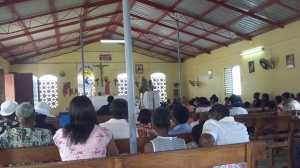 community members in church