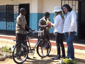 youth with new bicycle