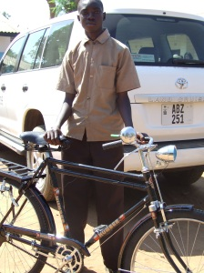 youth with new bike