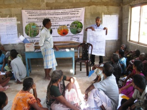 Farmers in classroom training