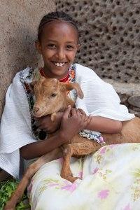 Child w/Goat