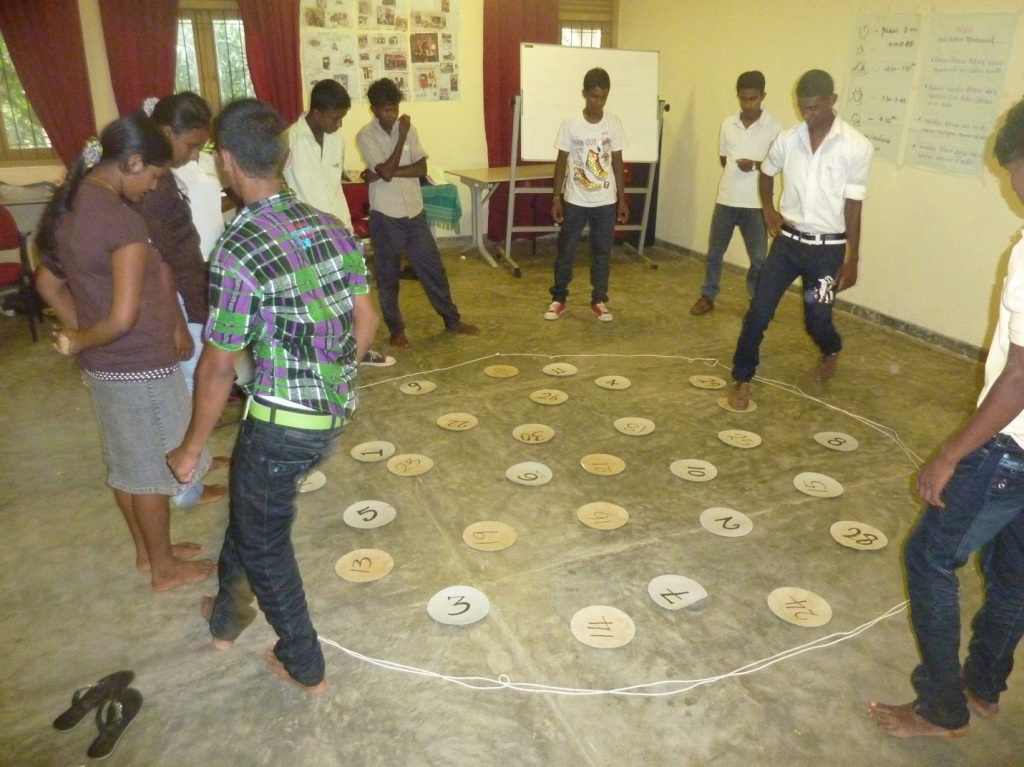 youth participate in training