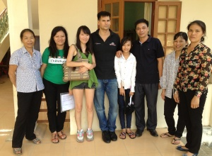 Meeting Trang's family.