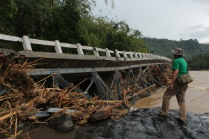 bridge after flood