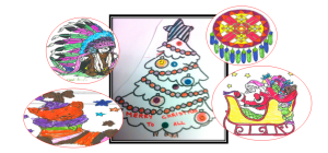 Drawings of Christmas tree