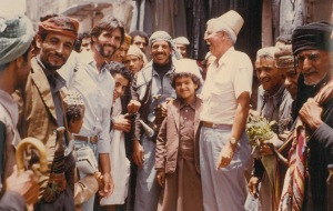 group of men and boys in Yemen