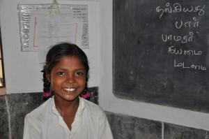 Pavithra in classroom
