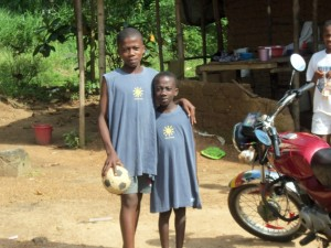 Liberian boys in T-shirts