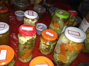pickled vegetables at market