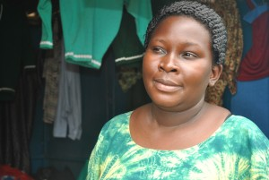 Ugandan woman at shop