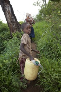 Each day, Rachel and her mother walk six hours to get  to and from their water source in Kenya.