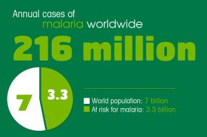 216 million annual cases of malaria