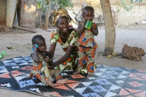 Senegalese mother and daughters