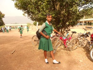 Sierra Leone girl in school uniform