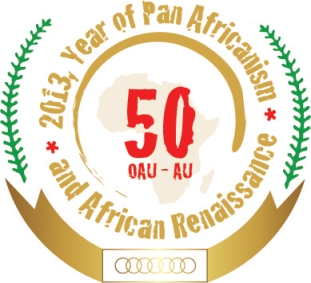 logo commemorating 50th anniversary of African Union