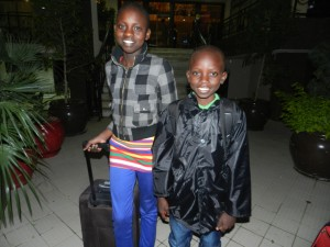 African children arriving