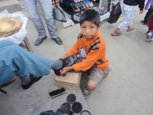 Bolivian shoeshiner