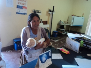 Bolivian mother with doll